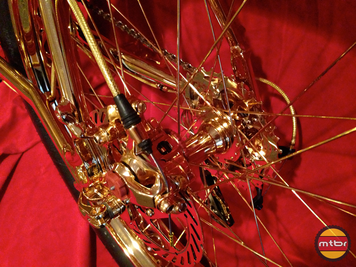 24k Gold Bike Rear Wheel
