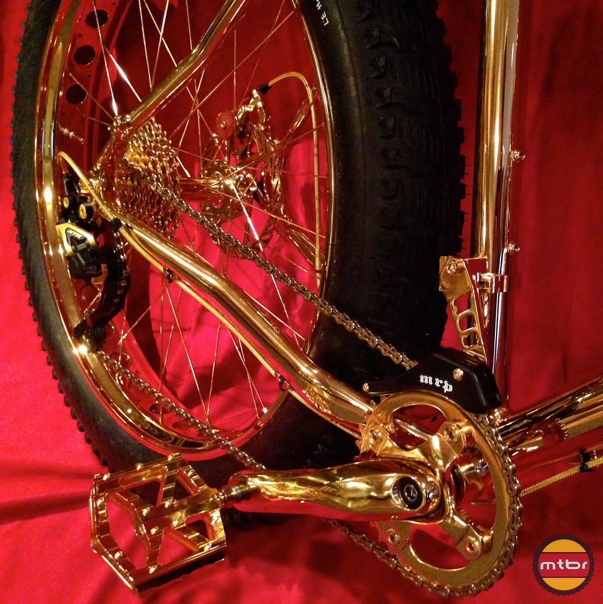 24k Gold Bike Drivetrain