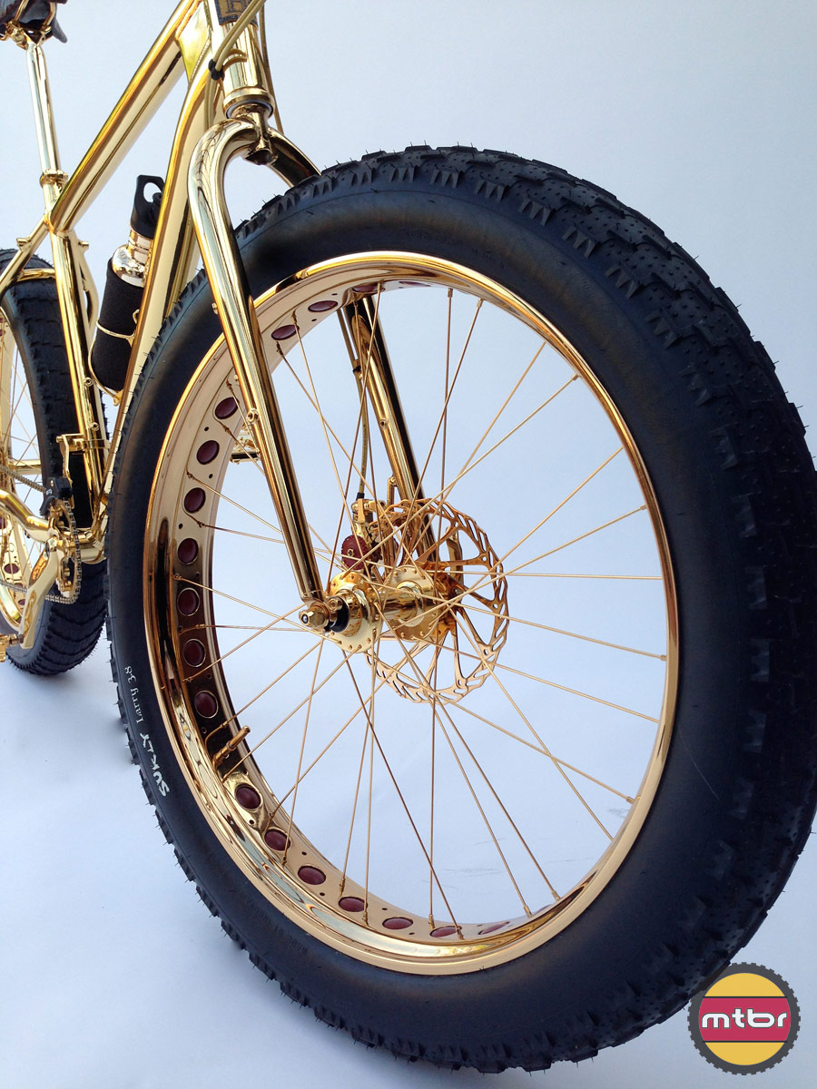 24k Gold Bike Tire