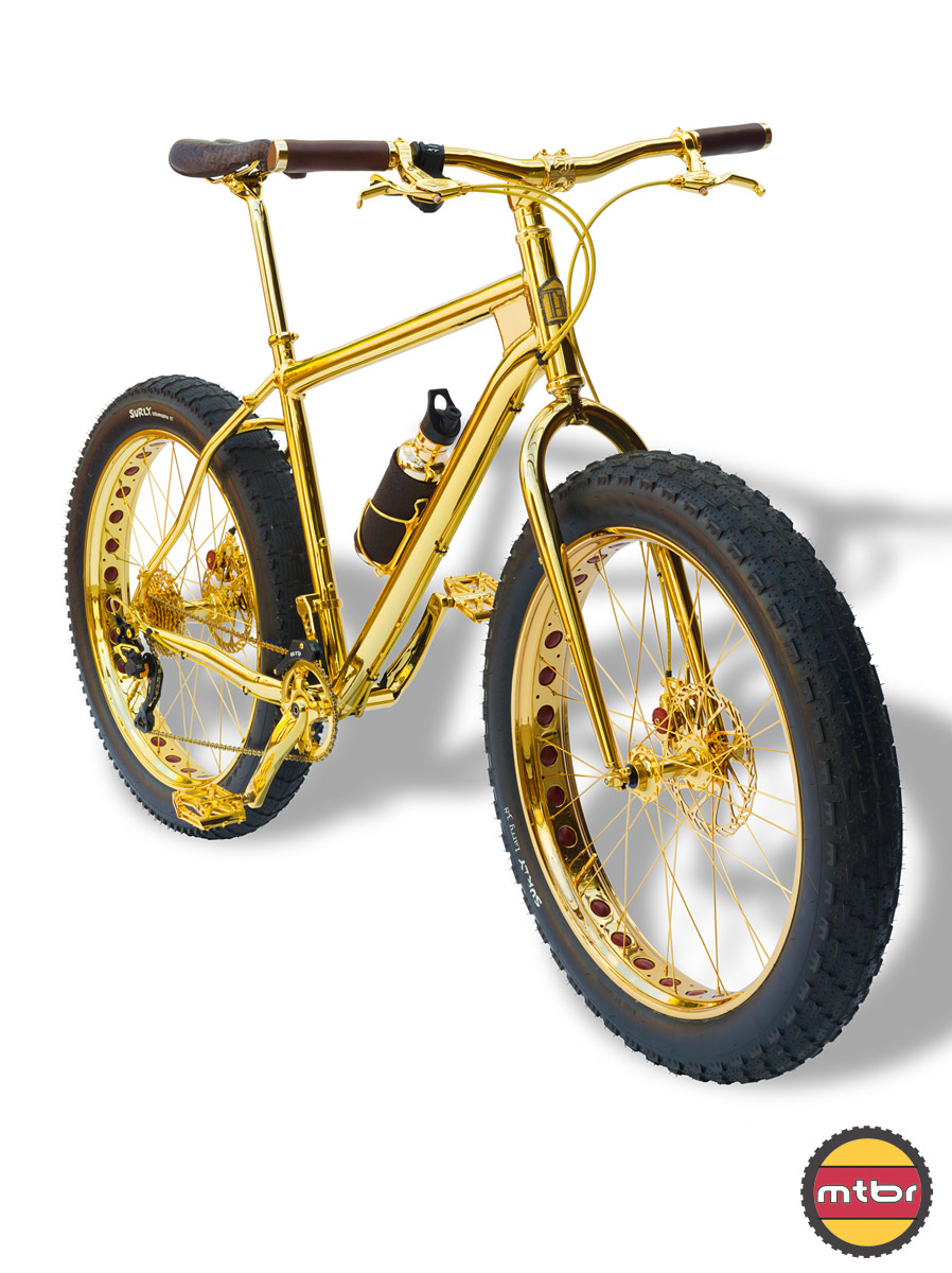 24k Gold Bike Fat Bike