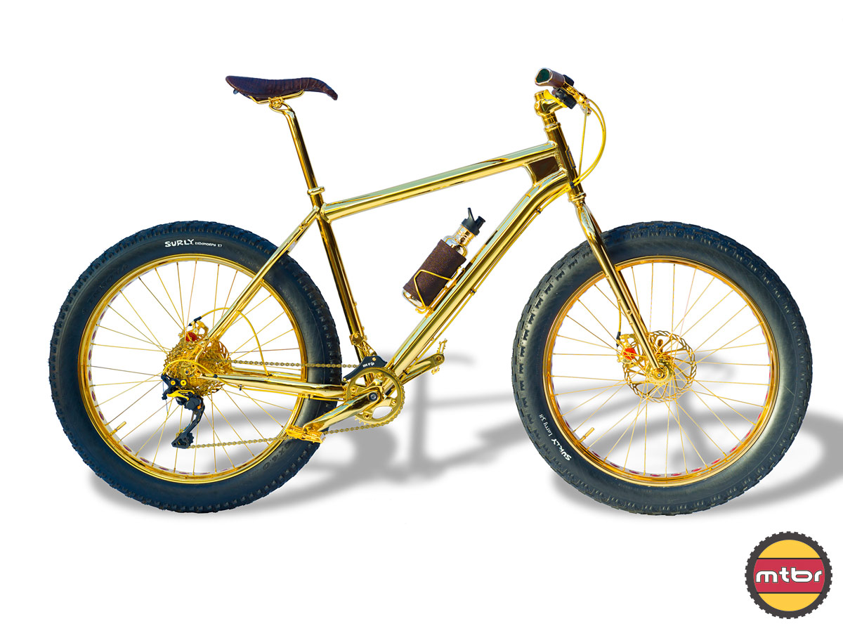 24k Gold Bike Salsa Fatbike
