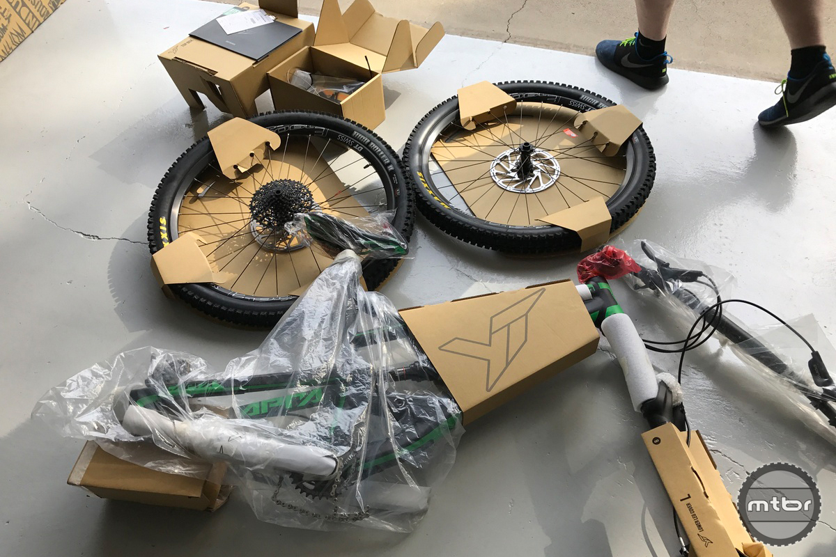 The packaging on a YT Industries bike is unlike any other with engineered cardboard for the task at hand