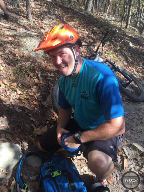 Our tour guide was Dan Lucas from Roanoke Mountain Adventures, a local outfitter that provides guide services for mountain biking as well as other outdoor activities. roanokemountainadventures.com