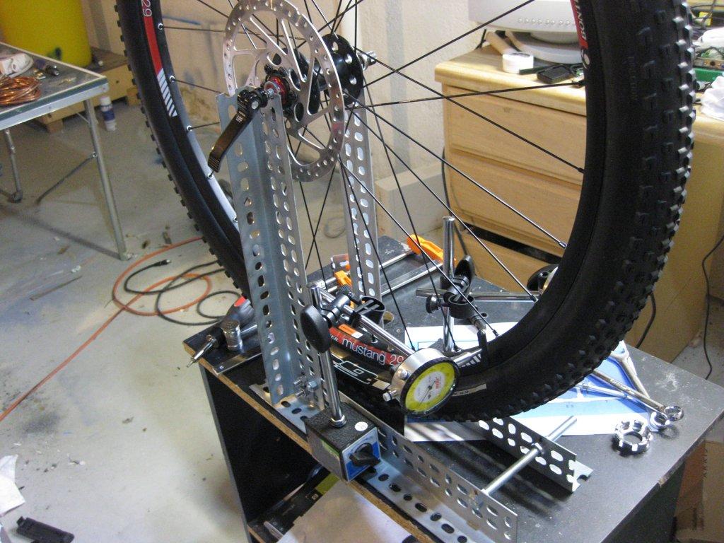 My Diy Wheel Building Truing Stand Mtbr Com