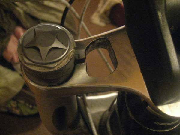 """""""Drillium"""" on DUC32 upper triple clamp, or maybe I went to far.. !?-img_5242-m.jpg"""