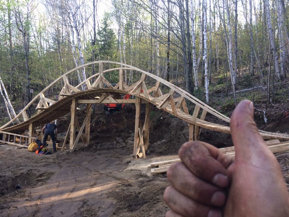 How to frame curved wooden features?- Mtbr.com