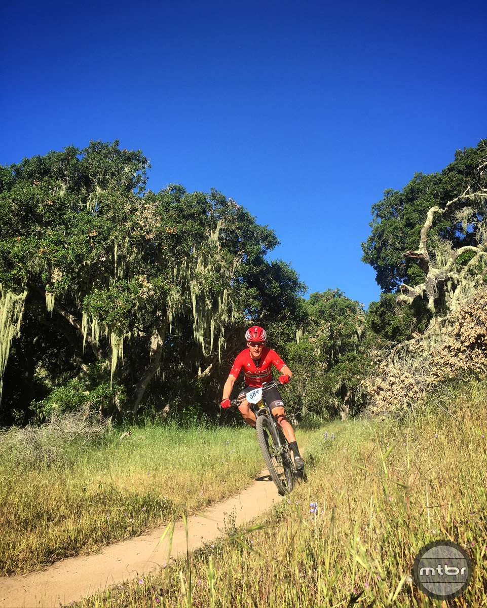 The tough Sea Otter Cat 1 XC race featured 4000 feet of climbing over 28 miles — and some ripping fast descents.