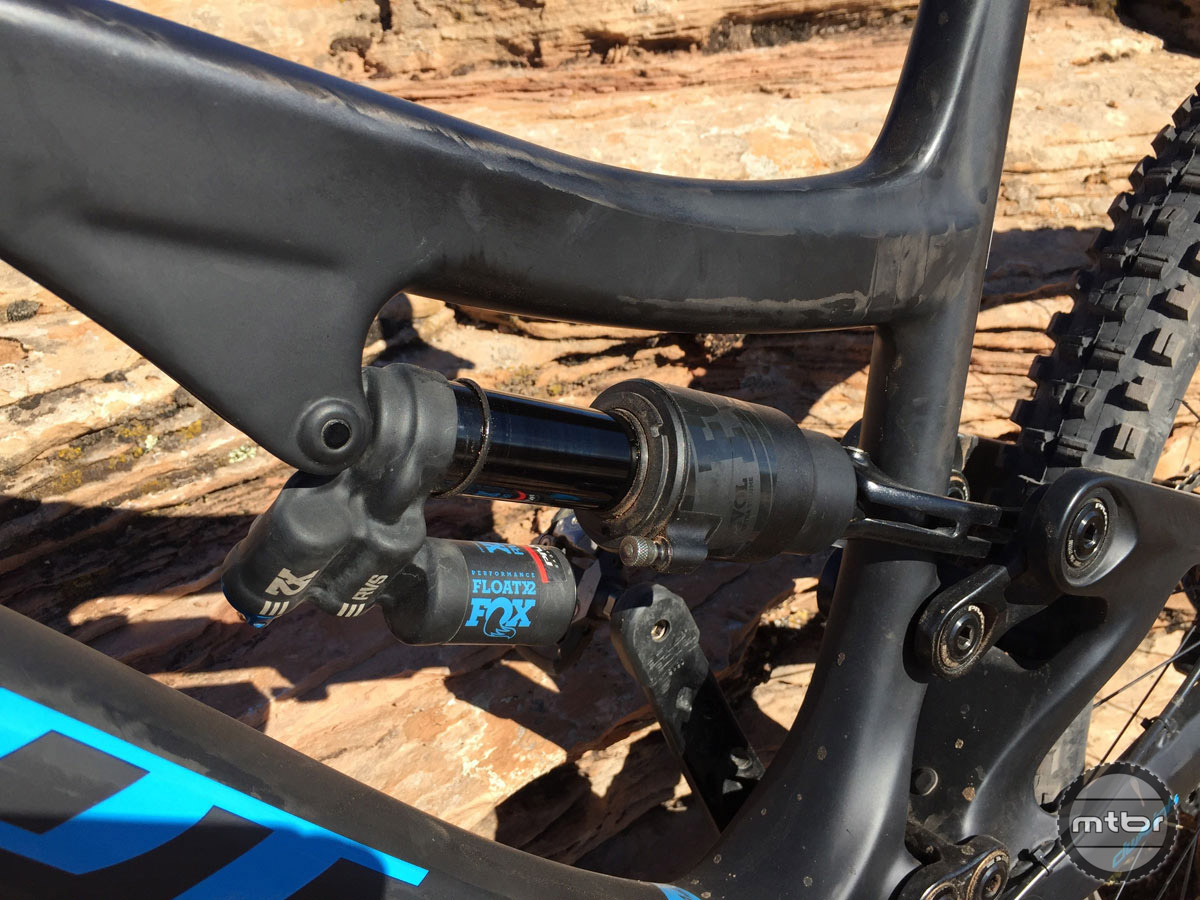 The Fox Float X2 piggyback shock is a nice compliment for this bike.