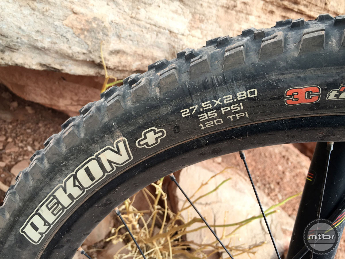"The Maxxis Rekon is a beast of a tire, and at 2.8"" you didn't feel the need for a wider 3.0"" option."