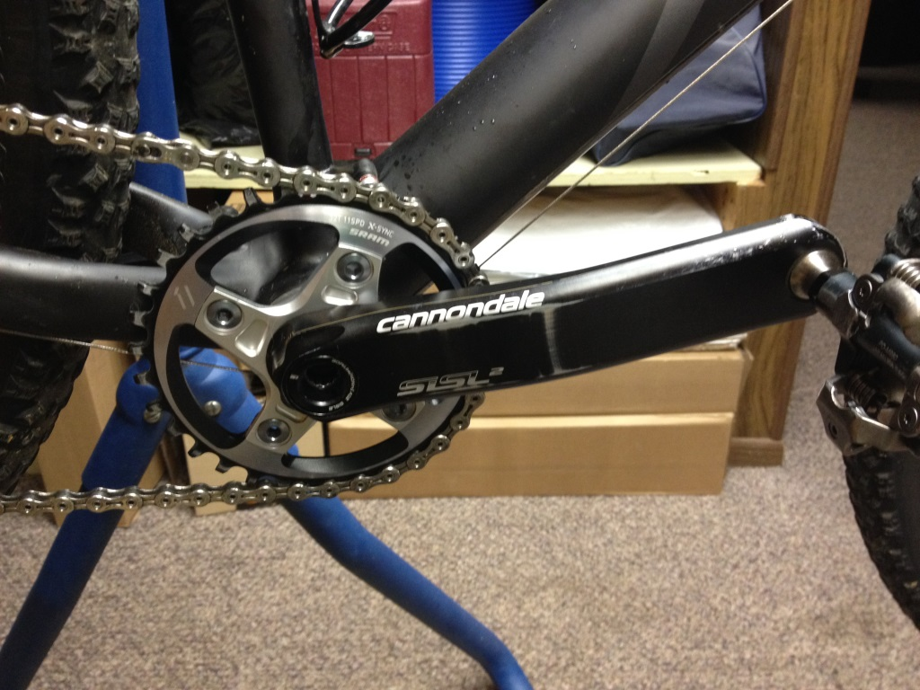 122mm spindle with Hollowgram SiSl2 cranks and XX1 chainring on F29-img_6152.jpg