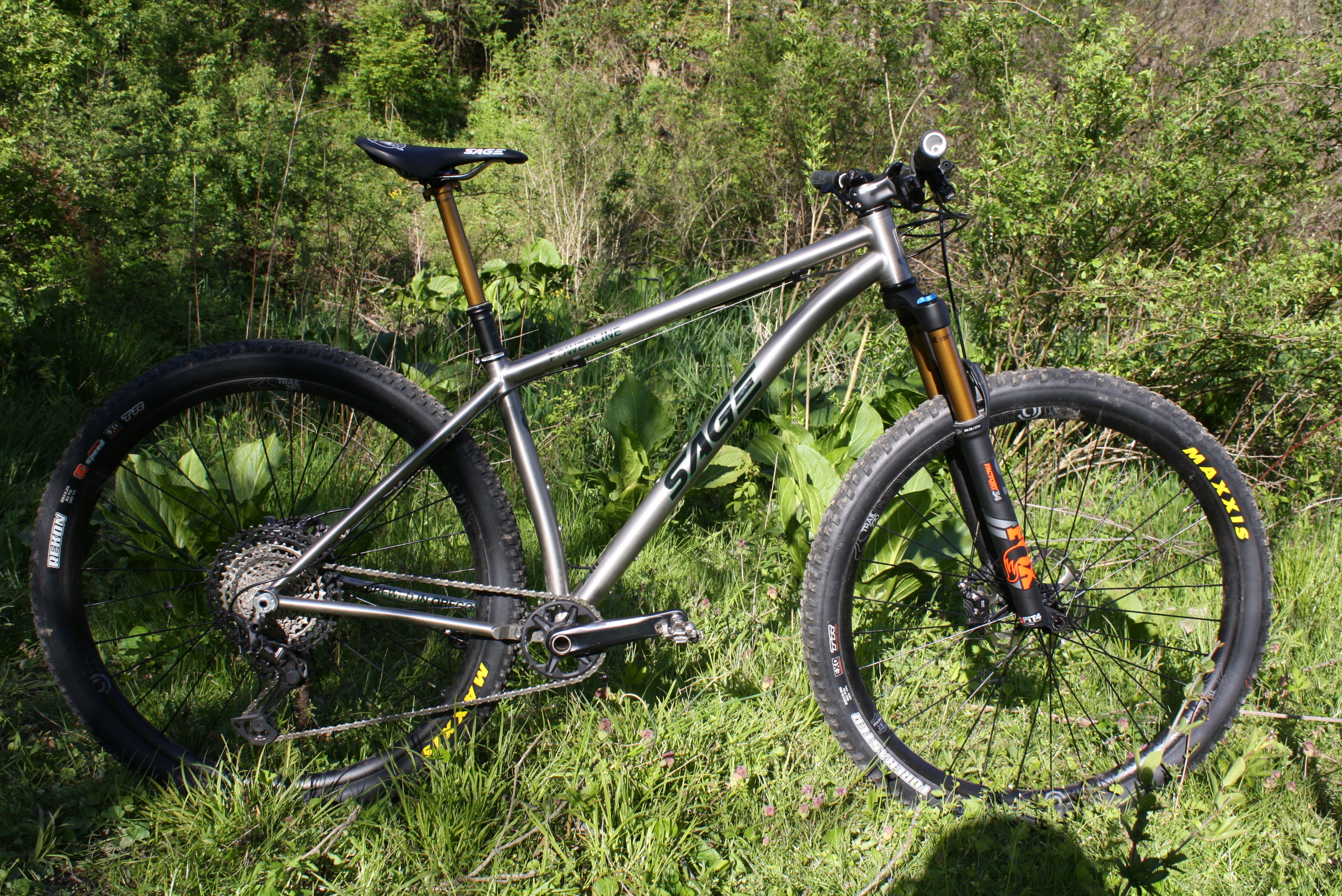 The Sage Powerline is classic cool in a world of matte carbon hardtails.