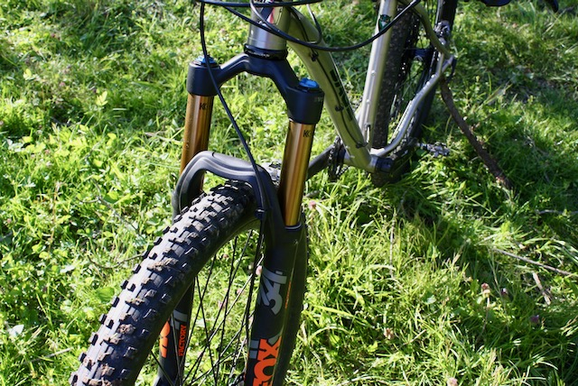 The Fox Factory 34 fork is smooth over the rocks and we never need to use the lockout.