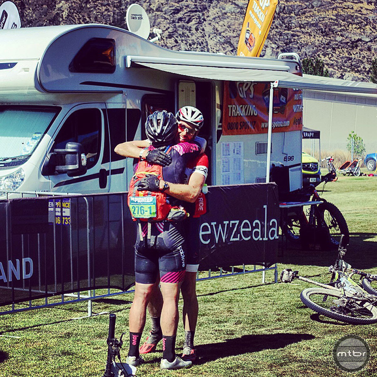 The joy of finishing an epic endeavor was evident for Hauswald and his partner Andrew Young.