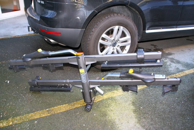 Paid Spam Saris Cycle On Pro Hitch Mounted Bike Rack 2