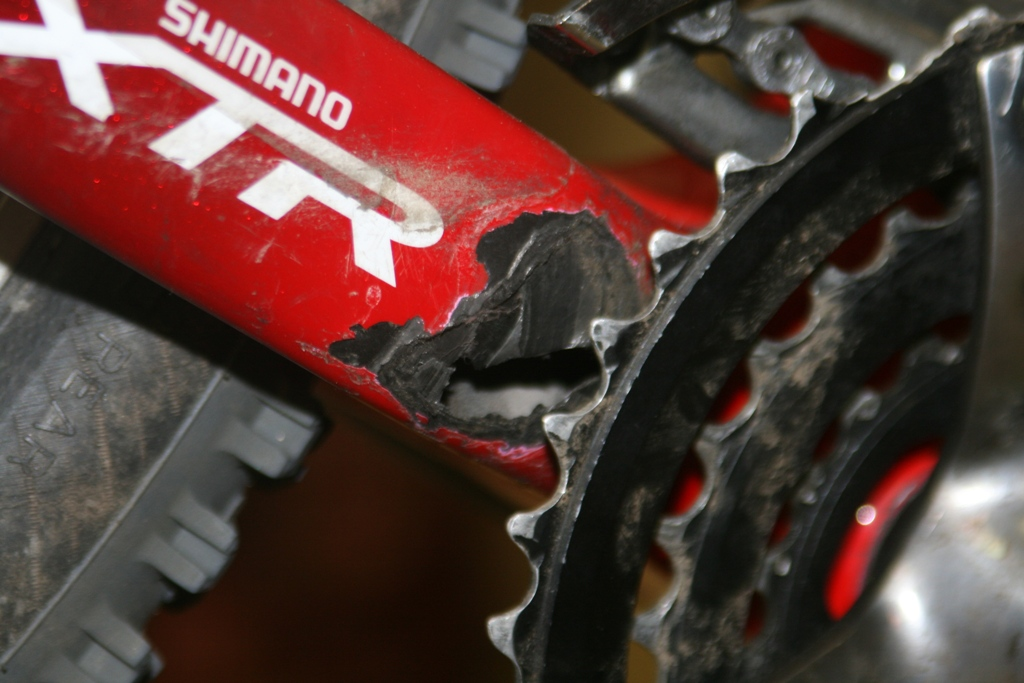 Carbon Frame Chainstay Damage By Chain Suck Mtbr Com