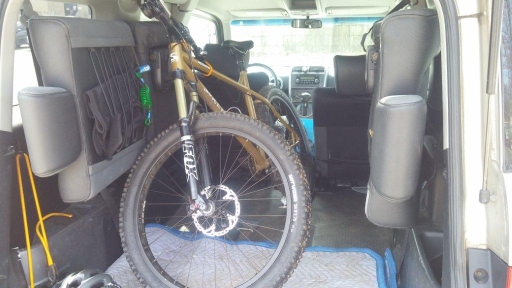Does your mountain bike fit travel in your car page 5 Nissan xterra bike rack interior
