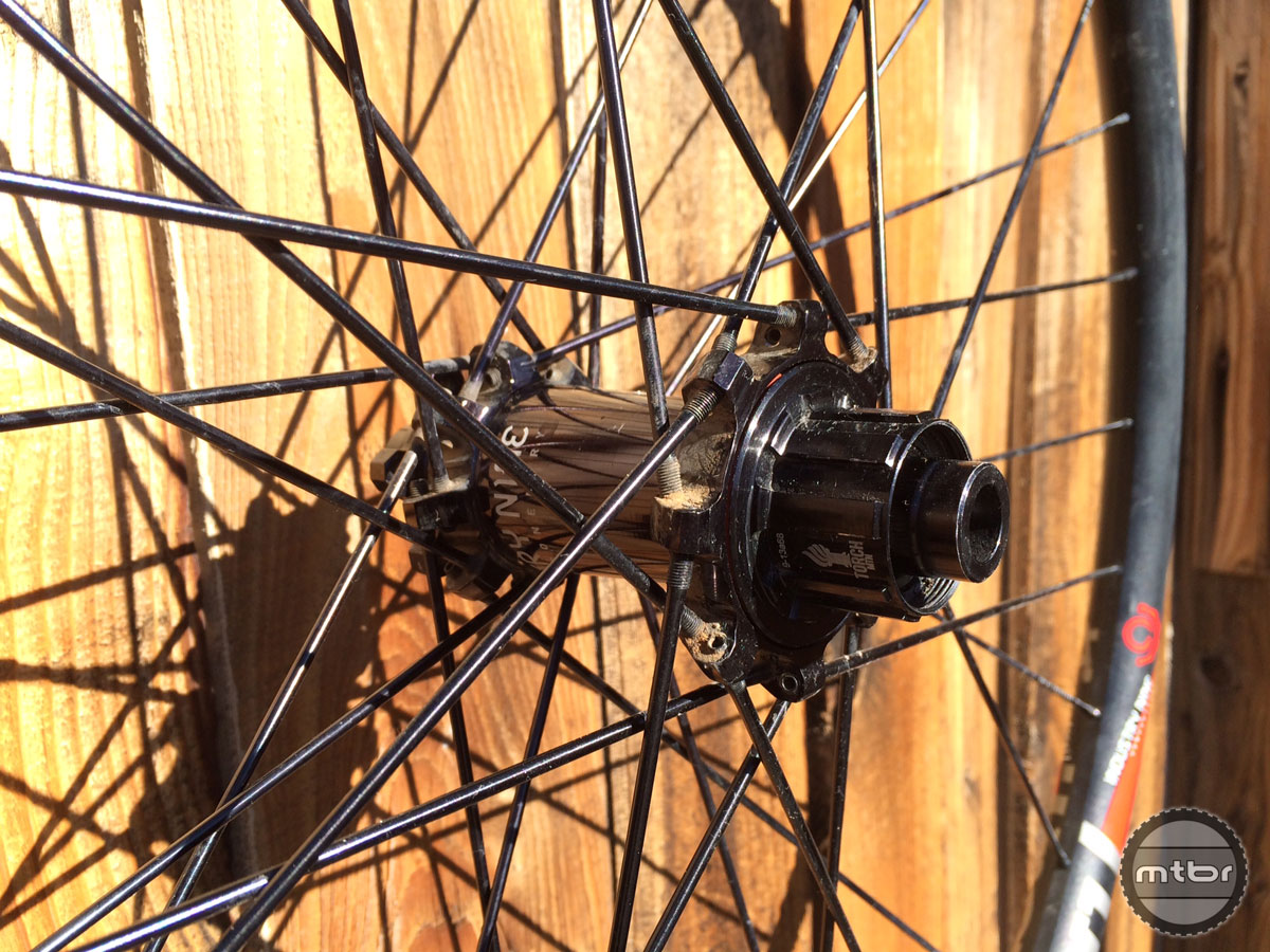 The 120-point, three-degree engagement Torch rear hub is a boon for technical riders and singlespeeders.