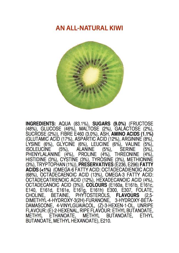 Vegetarian and Vegan Passion-ingredients-all-natural-kiwi-poster-2.jpg