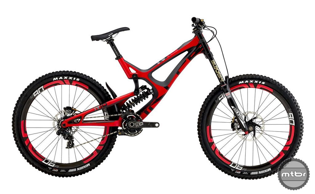 The Intense M16 has adjustable rear travel from 215 to 240mm.  We tested the Pro Build version and it straight up rips.