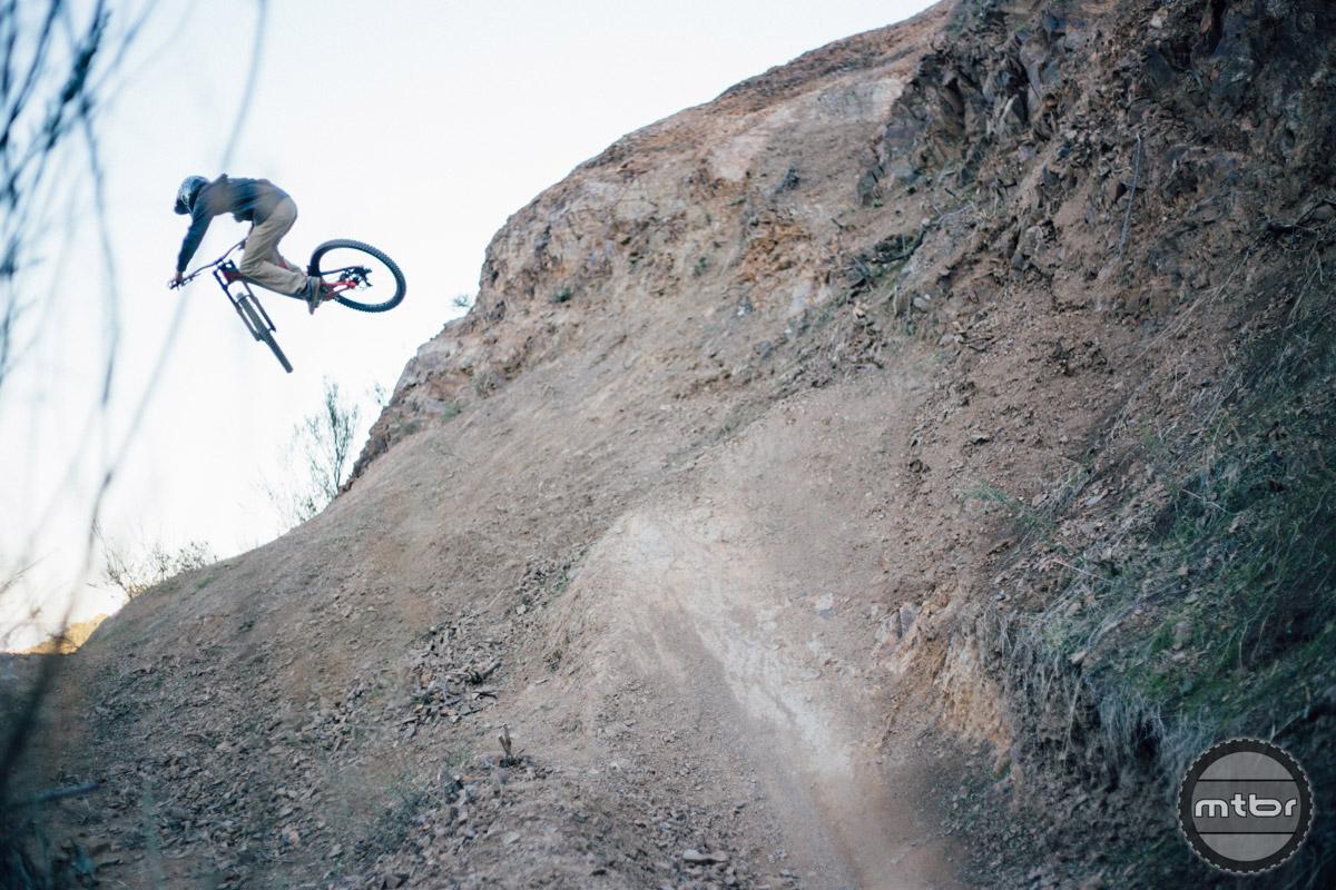 Tyler Hanson sending a huge hip.