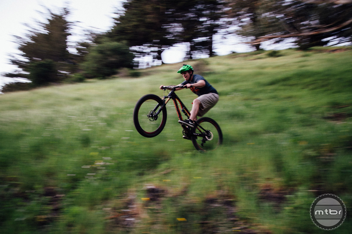 The new Spider is happiest in the air or when manualing through a section of trail.