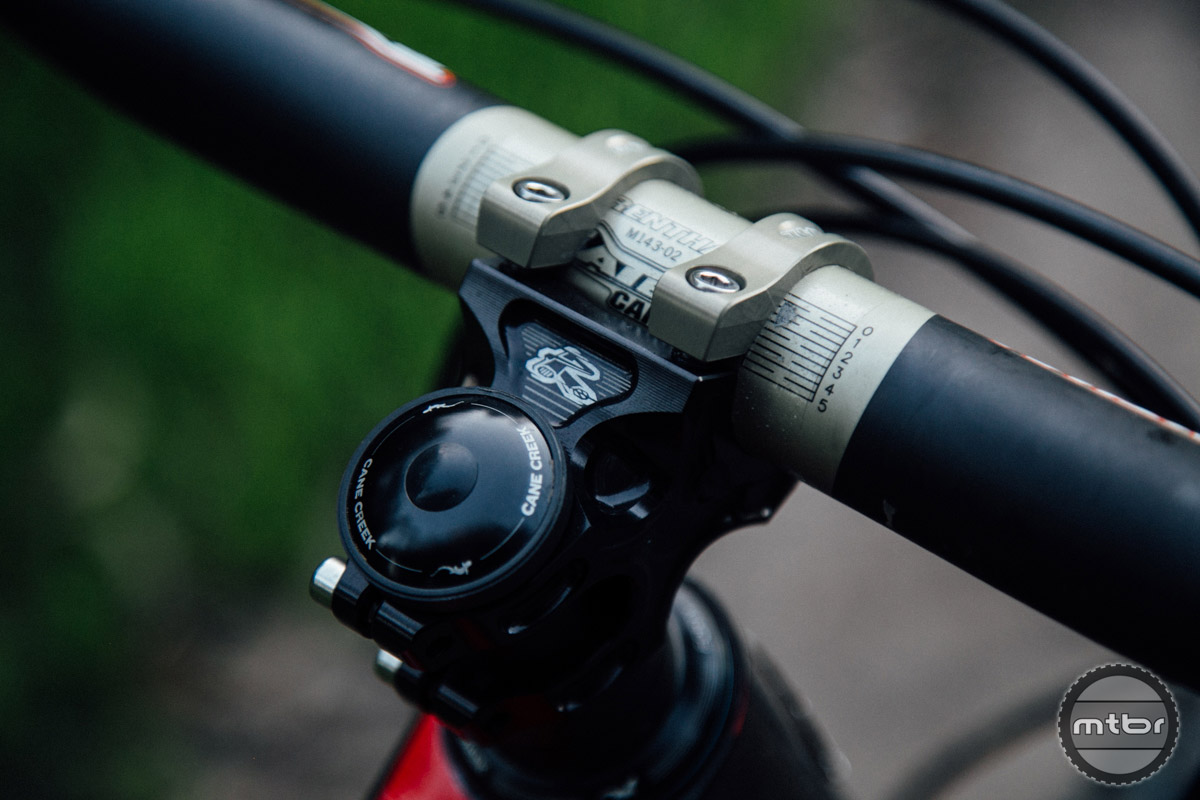 The 240 degree handlebar clamp of the Renthal Apex stem makes it difficult to swap out or reinstall with a different handlebar.
