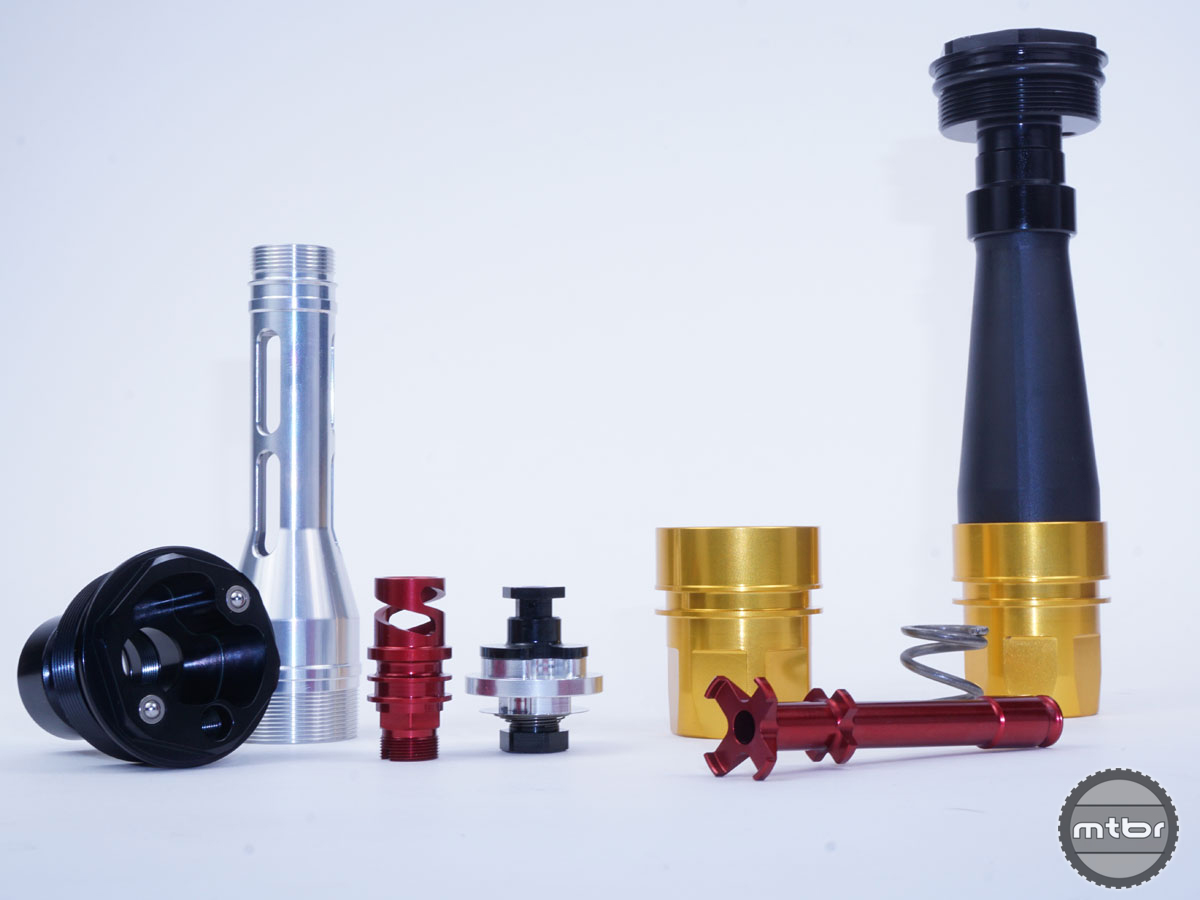 Damper components are machined
