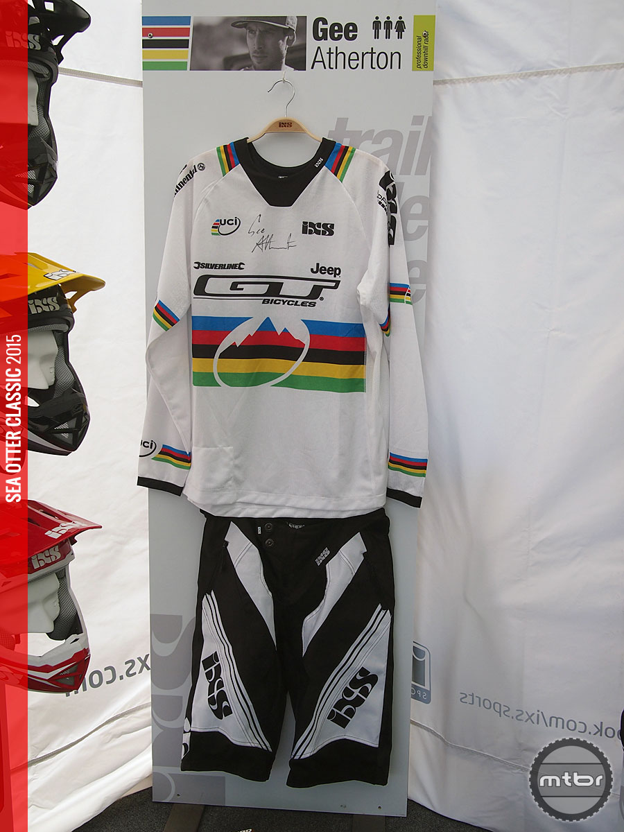 Gee Atherton's Champion's colors with autograph