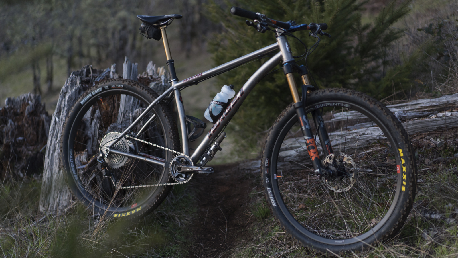 As long, slack hardtails become more popular, more riders are embracing Ti for its lightweight and durability. Photo by Sean Burke