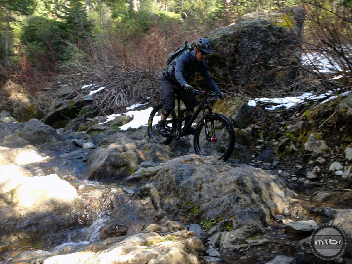 James Adamson descends the infamous Butcher Ranch Trail waterfall.