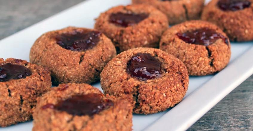 Vegetarian / Vegan / Raw recipes & chat-jammin-almond-thumbprint-cookies.jpg