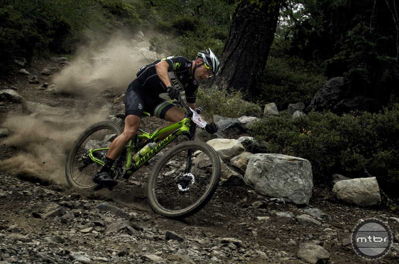 Jason Moeschler rocks his Habit on the  Downieville Classic course.