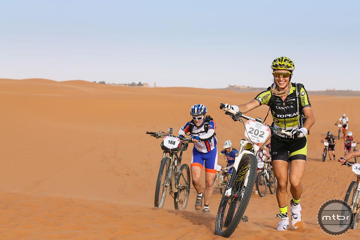 Sonya at Titan Desert Stage Race 2014