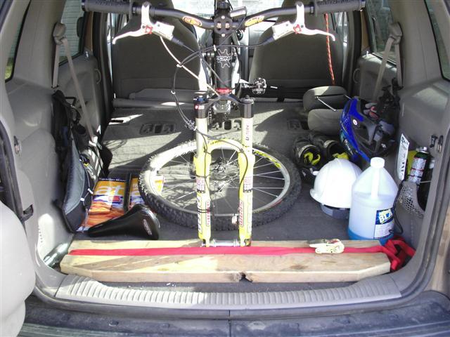 anyone know a good bike rack for inside estate car. Black Bedroom Furniture Sets. Home Design Ideas