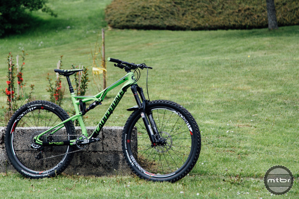 "When Jereme Clementz isn't racing his 6"" travel Jekyll, he's riding the short travel Cannondale Habit."