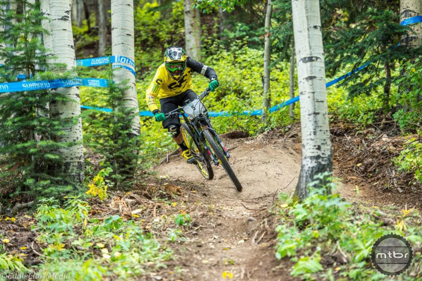 While Jerome may come from a DH background, racers from all disciplines are attracted to the Enduro format. Photo by Eddie Clark