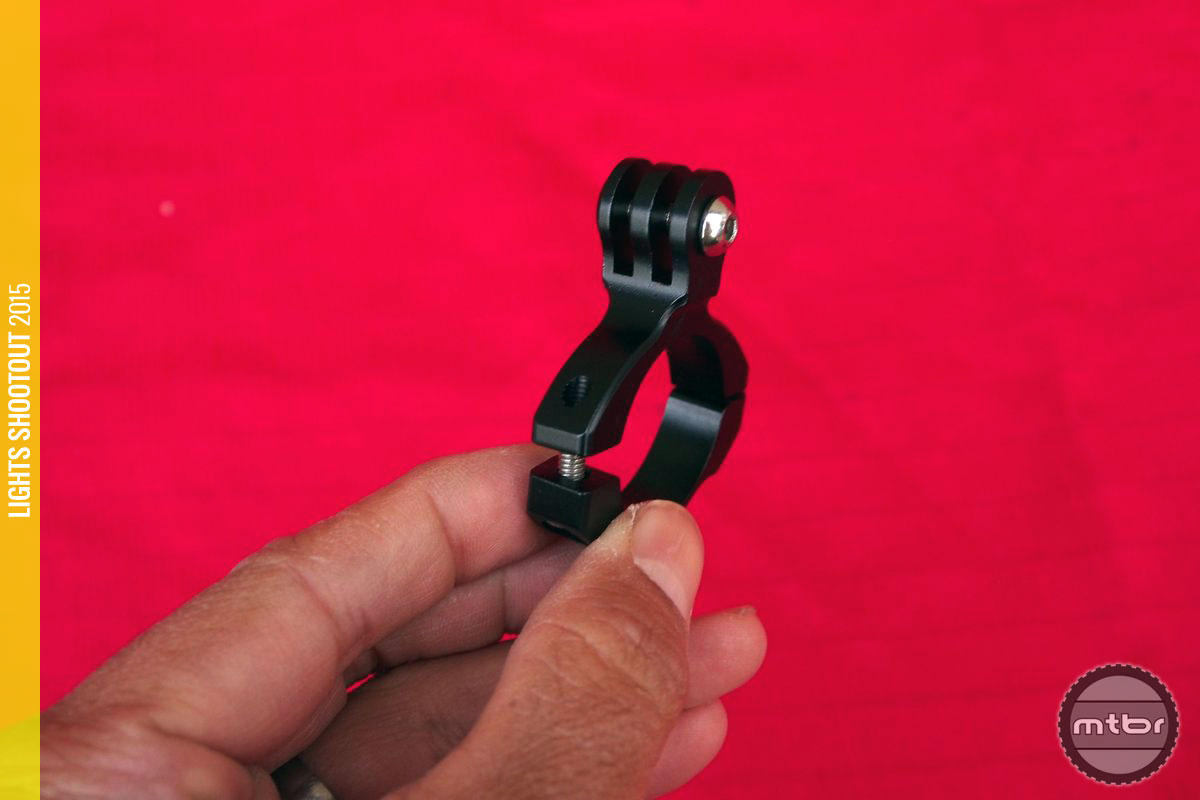 Machined handlebar mount that even GoPro or K-Edge would be proud of.