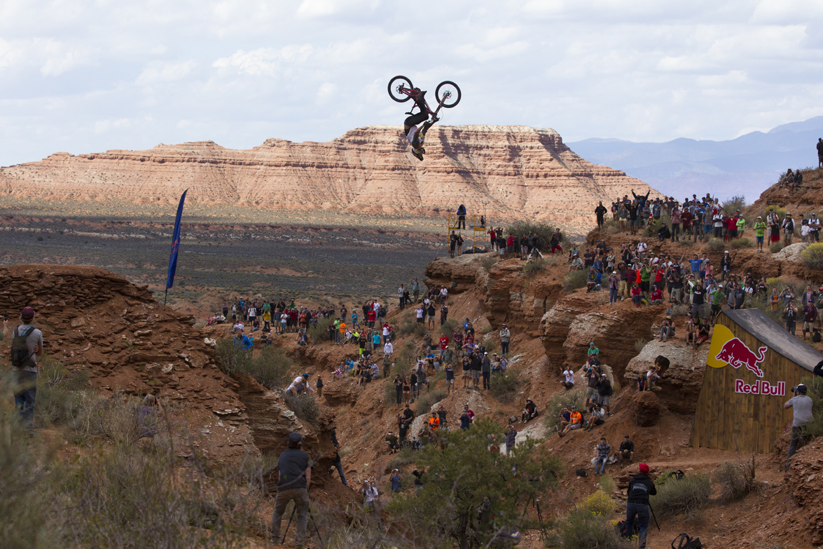 Kelly McGarry Backlips the Canyon Gap - 2013 Red Bull Rampage