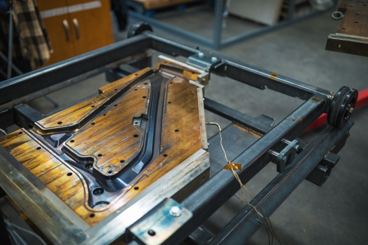 Guerrilla Gravity was able to build its molds in-house with its CNC machines. Photo by Justin van Alstyne