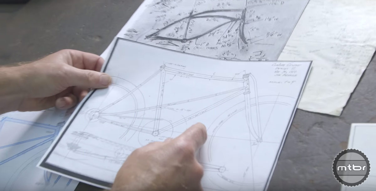 Sketches of what would become the world's first purpose built mountain bikes.