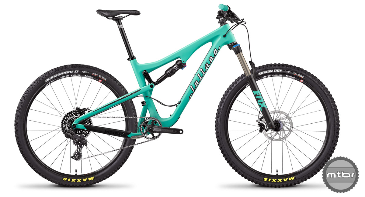 So what does $3,599 get you? A Fox Rhythm fork, SRAM NX 1x11 drivetrain, and Raceface cockpit. Not bad.