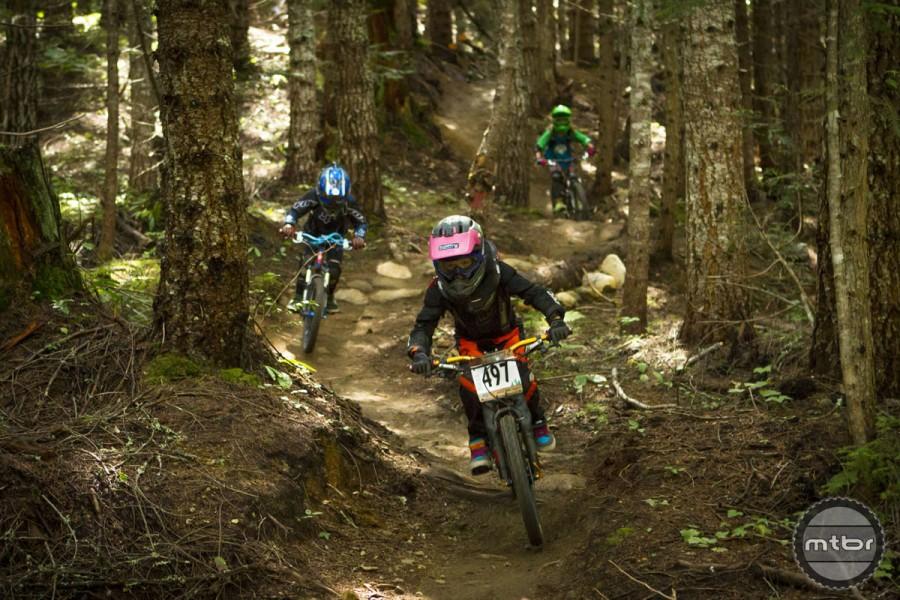 Whistler kids get a jump on the competition. Photo courtesy Whistler Mountain Bike Park/Justa Jeskova