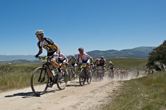 Kabush leading the pack at the Sea Otter Classic, he ultimately won by over a minute