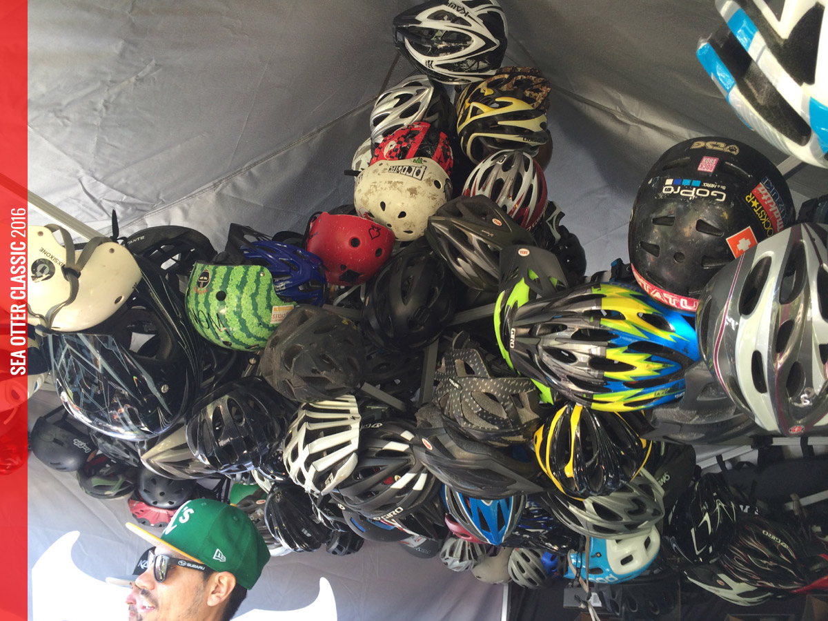 How does FREE sound for a new helmet? Just bring your old battered and bruised helmet down to the Sea Otter Classic and you can trade it in for a FREE new Kali helmet!
