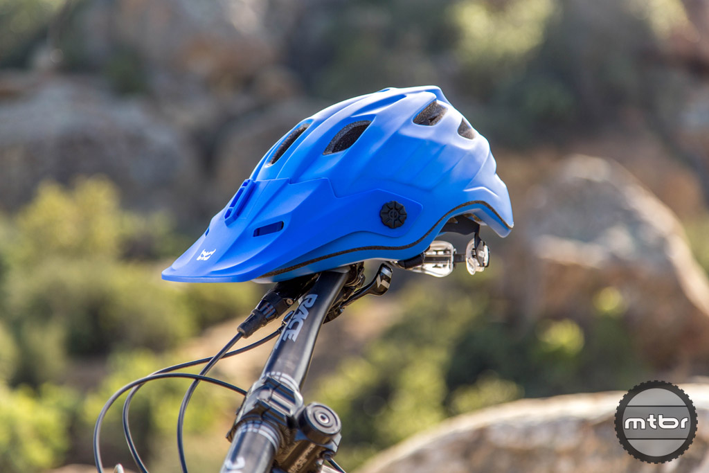 The new Kali Maya helmet shown in EnduroBro Blue