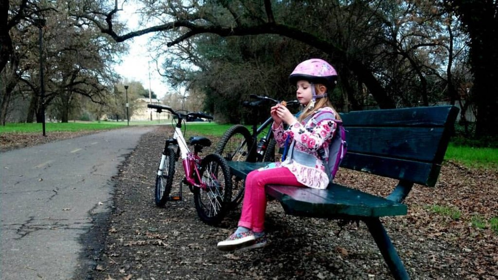 Kid's Mountain or Road Bike Ride Picture Thread-kayleigh-break-time-new-bike.jpg