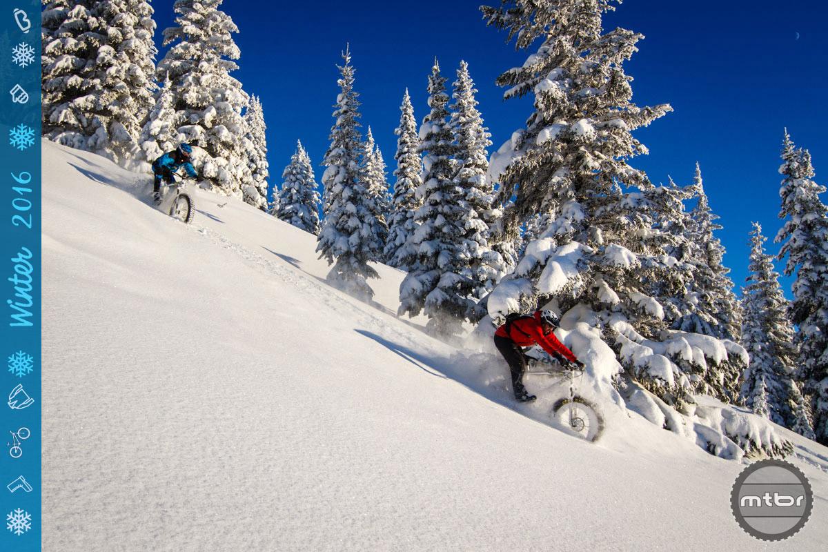 Where no bike has gone before — powder! Photo Courtesy Kaz Yamaura/Rocky Mountain