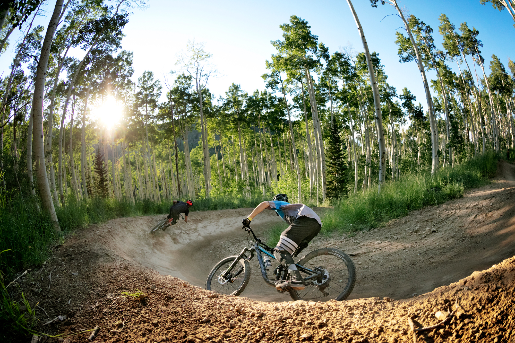 KC Deane and Reece Wallace at Deer Valley, Utah