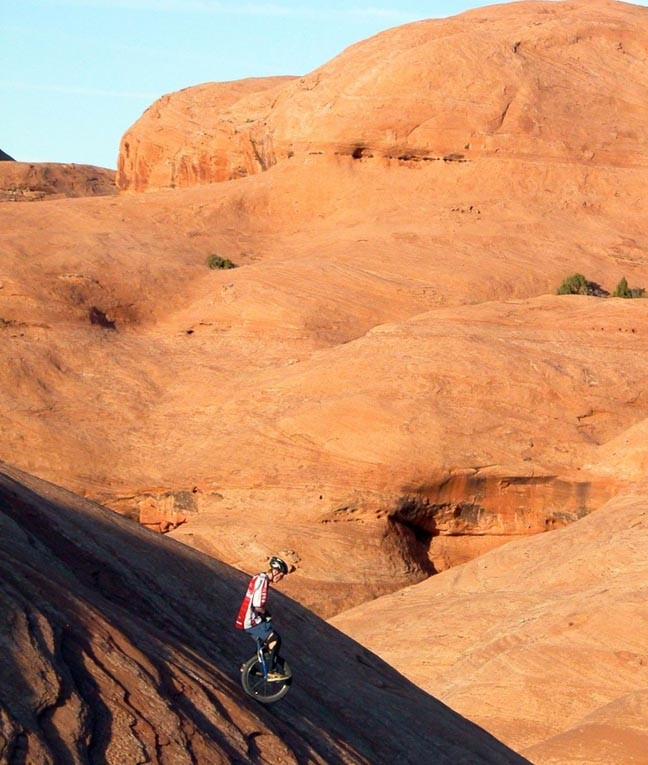 Kris Holm. Amasa Back, Moab. Photo by Nathan Hoover