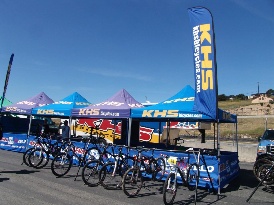 KHS Bicycles was setup early for the Sea Otter Classic.